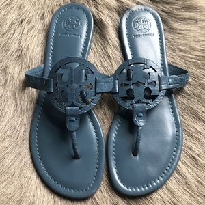 Tory Burch Miller Matte Blue sandals 8.5